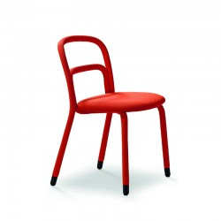 copy of Upholstered chair with steel legs - Trampoliere