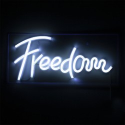 Neon led light Freedom writing - Libertà