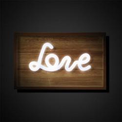 Pannello luminoso con scritta Love - Amor