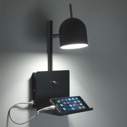 Abat Jour Lamp with usb socket for smartphone - Perry