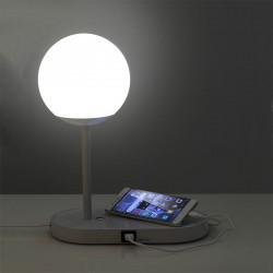 Abat Jour Lamp with usb socket in metal - Luke