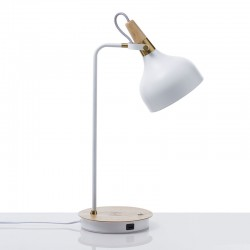 Table Lamp with usb socket and charger wireless - Berry