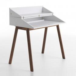 Bureau wood writing desk with led light