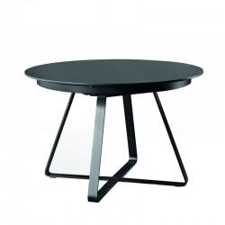 Tavolo tondo allungabile con piano in legno/ceramica - Paul
