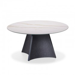 copy of Round table with wooden/ceramic top - Hourglass