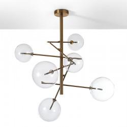 Lampadario con sfere di vetro - Celine