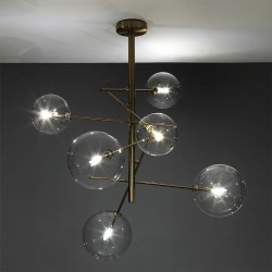 Suspended Lamp with glass balls - Celine