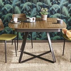 Tavolo quadrato allungabile con piano in legno/ceramica - Paul
