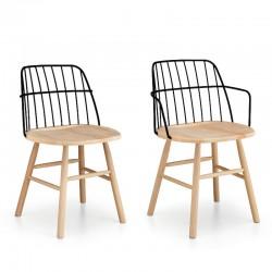Sedia in legno con o senza braccioli - Strike