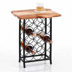 Wine Cellar with wooden top - Merlot