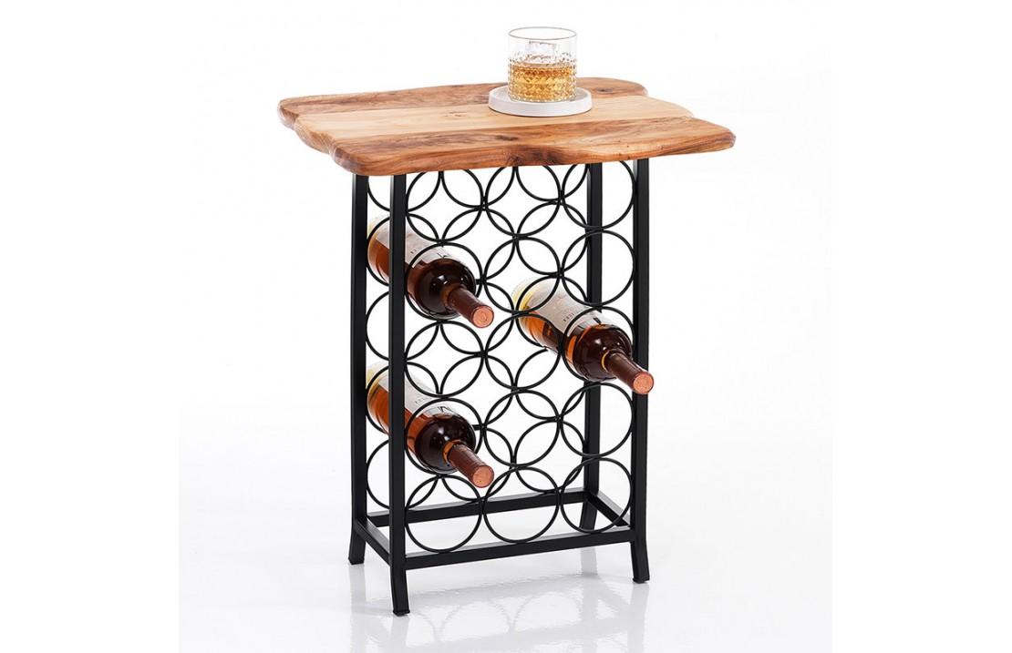 Wine Cellar with wooden top - Merlot