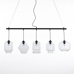 Suspended Lamp in black metal - Hero
