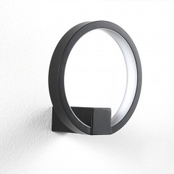LED Applique in black / gold aluminium - Circle