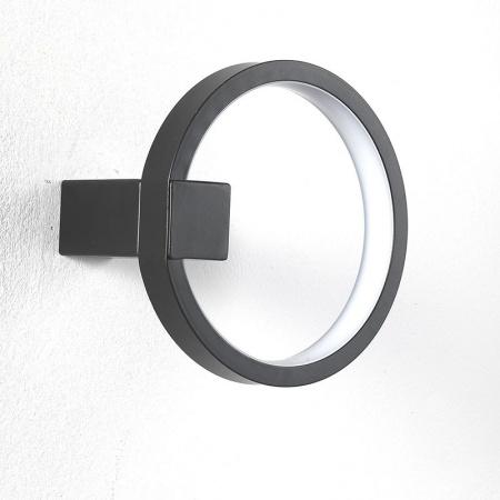 LED Applique in black / gold aluminium - Circle