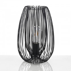 Table Lamp in black metal - Hola