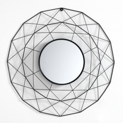 Round Mirror in metal - Gem