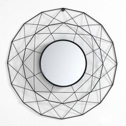 Specchio tondo in metallo - Gem