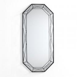 Mirror in black metal - Gem