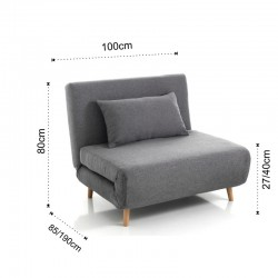 Armchair bed in fabric - Over