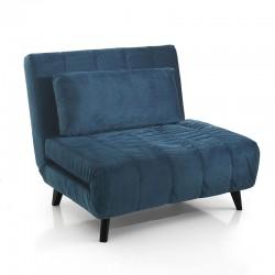 Armchair bed in velvet - Pull