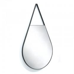 Mirror in black steel - Gotte