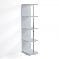 Bookcase in white lacquered - Elle