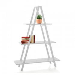 Bookcase in white lacquered - Step