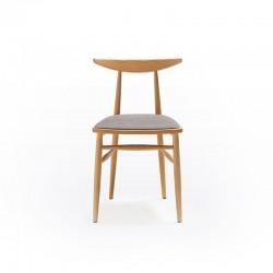 Sedia imbottita in legno di frassino - Timeless