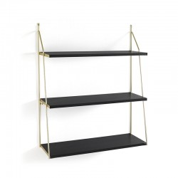 Wall Shelves black and brass - Sofia