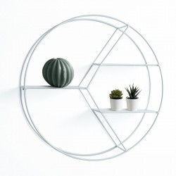 Round Wall Shelves in white metal - Orco