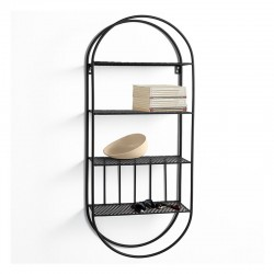 Wall Shelves in black metal - Arco