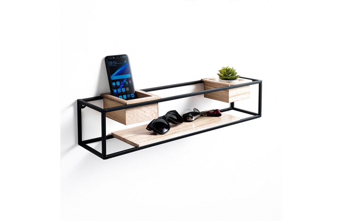 Wall Shelves with wooden storage container - Oppa