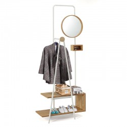 Hallway unit with mirror and coat hanger - Jack