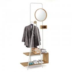 Mobile da ingresso con specchio e appendiabiti - Jack