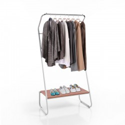 Stand clothes hangers with shelf - Olmo