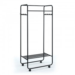 Stand clothes hangers in black steel - London