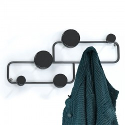 Wall clothes hangers in black steel - Blow