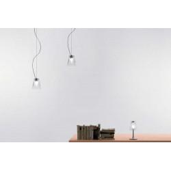 Lampada a sospensione vetro e metallo - Flow