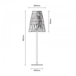 Floor lamp in wood and metal - Stick
