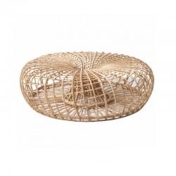 Poggiapiedi in vimini fatto a mano - Nest