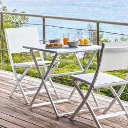 Folding table in aluminium - Queen