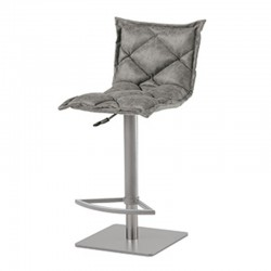 Stool in eco-leather or microfiber - Digione