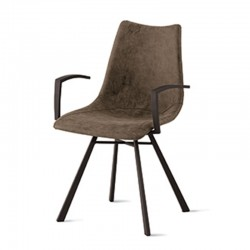 Padded armchair in microfiber or eco-leather - Maiorca