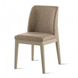 Padded chair in vintage eco-leather -Salisburgo