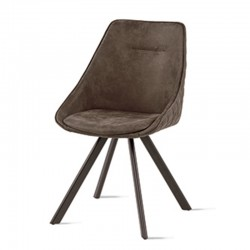 Padded chair in eco-leather -Bilbao