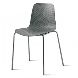 Stackable chair with metal legs - Colonia