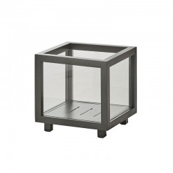 Lanterna / Portavaso in vetro quadrato - Lightbox
