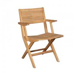 Sedia pieghevole da esterno in legno con braccioli - Flip