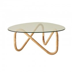 Round Glass Coffee Table - Wave