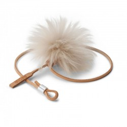 Toy for cat in leather and sheep skin - Topo